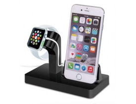 Suporte Dock Preto Apple Watch/iPhone
