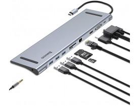 HUB USB 3.0 Type C 4K 10 em 1 - Baseus