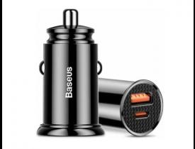 Carregador Veicular Quick Charge USB/USB-c 30W - Baseus