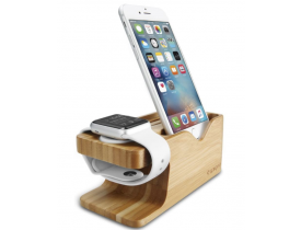 Suporte apple Watch e iPhone Stand S370 Bambu