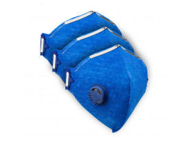 Kit (3x) Respirador/Mascara N95 PFF-2 Com Válvula - Certificado Anvisa