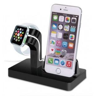 Suporte Dock Preto Apple Watch/iPhone