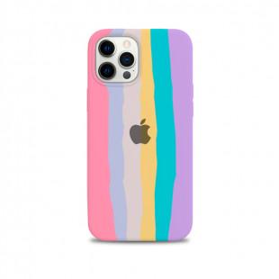 Case de Silicone - Arco-íris Algodão doce