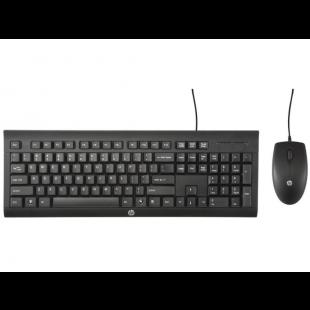 Combo Teclado e Mouse C/ Fio C2500 Preto - HP