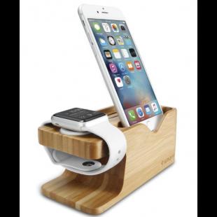 Suporte apple Watch e iPhone Stand S370 Bambu