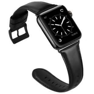 Pulseira Platinum Genuine Leather Band Apple Watch