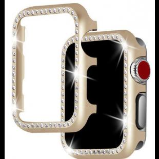 Case Para Apple Watch Com Diamantes - Gold