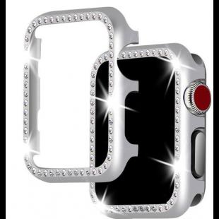 Case Para Apple Watch Com Diamantes - Prata
