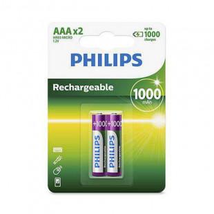 Pilha Recarregvel AAAx2 1000mAh 1.2V - Philips